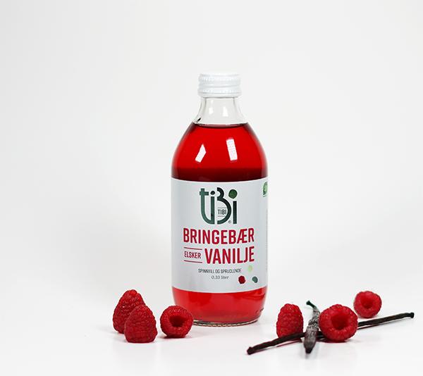 TIBI drikk bringebær elsker vanilje